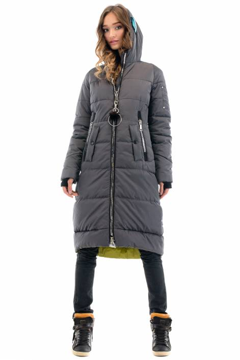 1839 – superstylish long coat- down jacket